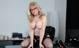 Busty Milf Out Of Work In the Office