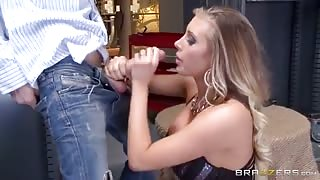 She is Suprised But Not Afraid By The Size Of His Cock