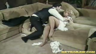 Blonde Pornstar in Retro Hardcore Action