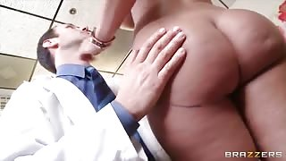 Busty Lady Pays the Price for her New Silicone Tits