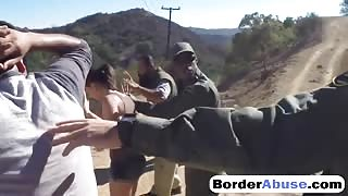 Black Border Guard Hardcore Fucked Busty Mexican Teen