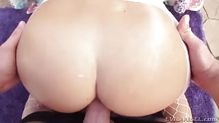 Beautiful Brunette with Gorgeous Butt Hard Fucked - POV
