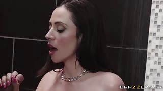 Busty Stepmom Shows her Stepson Some Hot Things in Shower!