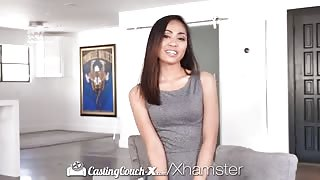 Skinny Asian Hard Fucked by Casting Agent On POV