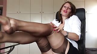 horny german milf  anett larmann in stockings