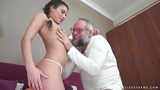 Old Grandpa Can Still Make Girl Horny