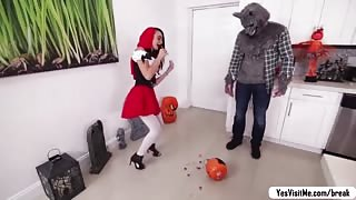 Frightful Wolf Caught Little Red Riding Hood and Roughly Fucked