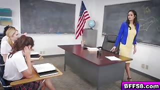 Helpless Schoolgirl Abused in Front of the Whole Classroom