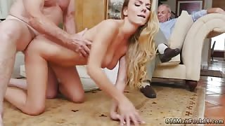 Horny Grandpas Enjoys in their Young Sexual Slave