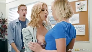 Shocked Guy Caught his Teacher Kissing Sexy Blonde Classmate