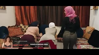 Three Hot Muslim Girls Getting Fucked by Big Black Cock