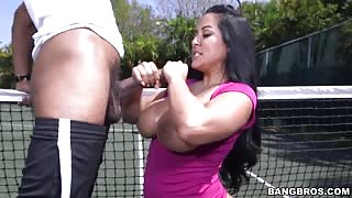 She Loves Playing Tennis and Sucking Penis!