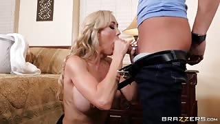 Young Stud Fucks Busty MILF in the Front of her Husband