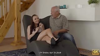 Filthy Dad is Fucking Son's New Girlfriend While He is Fixing his Computer