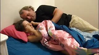Filthy Step-Uncle Sneaked into Sleeping Teen's Bed and Fucked her