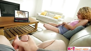 Watching Porn and Fucking My Amazing Stepsister at the Same Time Xxxvedio