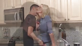 Mature Stepmom Forced to Suck and Fuck in the Kitchen by Stepson