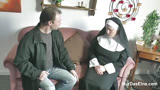 German Nun Fucked by her Friend after Church Mass! Xnxx Video
