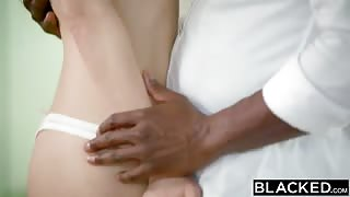 Pretty Brunette Teen Wanted to Try First Interracial Anal Sex and She is Amazed