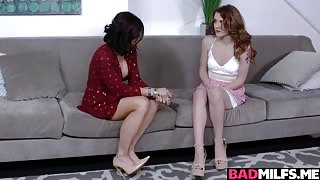 Slutty Stepmom Wanted to Teach Young Teen Couple How to Fuck