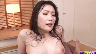 Hard Dick for Curvy Japanese Babe with Tight Hairy Pussy