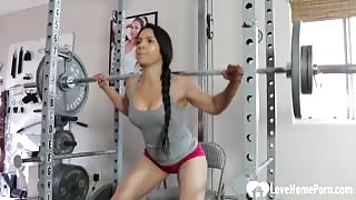 Very Hot Tia Working Out And Teasing With Her Fit Body