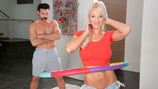 Outstanding Busty Fit Blonde London River Is About To Get Screwed By Mustache Guy
