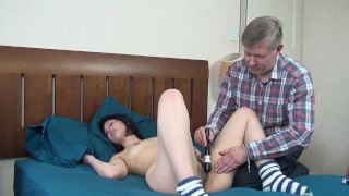 Horny Old Daddy Craves Sleeping Teen Pussy