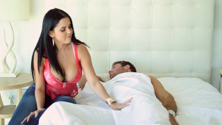 Busty Brunette Doll Wakes Up her Boyfriends and Gets her Asshole Drilled