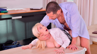 Sexy Blonde Teen Enjoys Rough Hard Sex After School Lessons