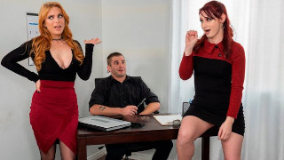 The New Boss Is Hot As Fuck In Office Threesome