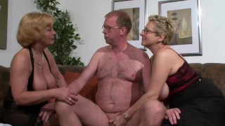 Old Ladies Love Having Dirty Threesomes Too! Matures Fucking One Guy!